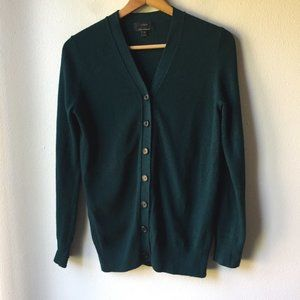 J. Crew V-neck Wool Cardigan with Cashmere